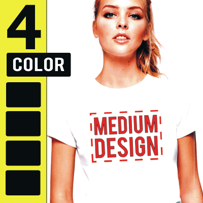 Custom 4 Color Medium Size Plastisol Transfers