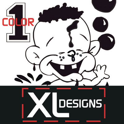 Custom 1 Color X-Large Size Plastisol Transfers