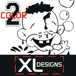Custom 2 Color X-Large Size Plastisol Transfers
