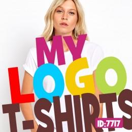 Custom Logo White T-Shirts
