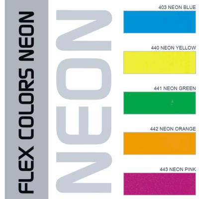 Blank Neon Vinyl Iron-On Transfers