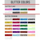 Glitter Flake Blank Transfer sheets