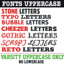 Single individual Iron-on Letters