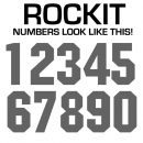 Single Vinyl Iron-on Numbers