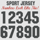 Sports Team Player Numbers 8 Inch Iron-on