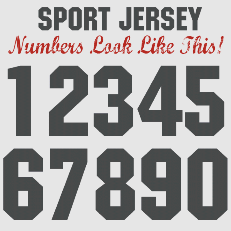 Font For Numbers On Jerseys