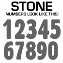 Single Iron-on Numbers Flex Vinyl 2 to 15 Inch