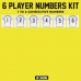 Iron-on  8 Inch Player Numbers Team Kits