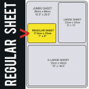 Regular Size Transfer Sheet 1 Color Designs Custom Plastisol Transfers