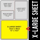 X-Large Size Transfer Sheet 4 Color Designs Custom Plastisol Transfers