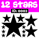 Stars Iron-on Transfer Decals