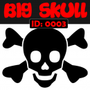 Big Skull Iron-on Decal