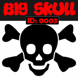 Big Skull Iron-on Transfer Decals