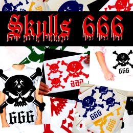 glitter skulls decals