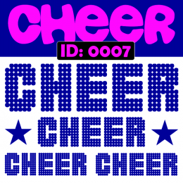 Cheer Iron-on Decals