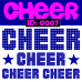 Cheer Iron-on Transfer Decals