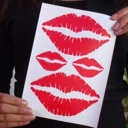 Lips decals