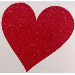 Hearts Iron-on Transfers Glitter Decals