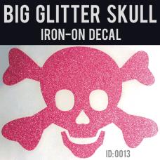Glitter Skull Iron-on Decal