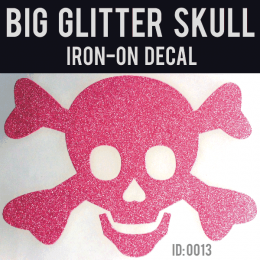Glitter Skull Iron-on Decal