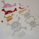 Skulls 666 Glitter Iron-on Decals