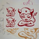 Devil Girl Glitter Iron-on Decal