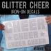 Glitter Cheer Iron-on Decals