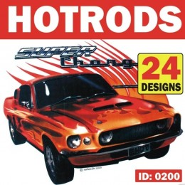 Hotrod Cars Iron-on Decals
