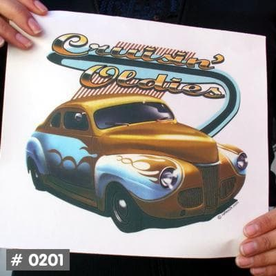 Cruising Oldies T-Shirt Decal