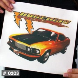 Lightning Rod T-Shirt Decal