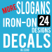 Slogan Words Iron-on Transfers 30 Decal Designs