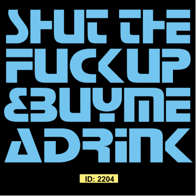 Shut Up Iron-on Decal