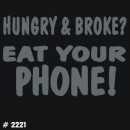 Eat Phone Iron-on Decal