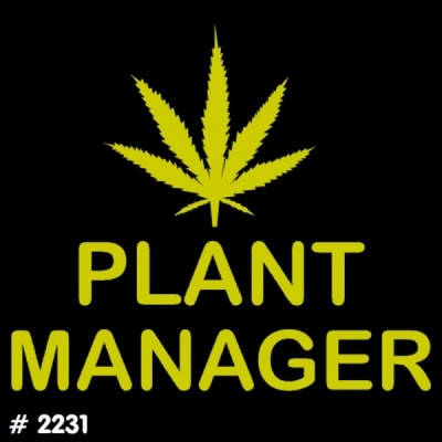 Plant Manager Iron-on Decal