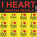 I Heart Iron-on Transfer Decals