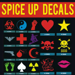 Spice Up Iron-on Decals Designs