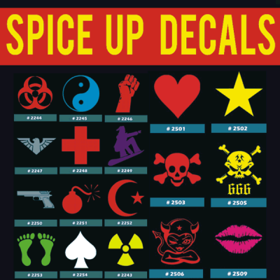 Spice Up Iron-on Transfers Decals Designs