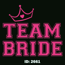 Team Bride Iron-on Decal
