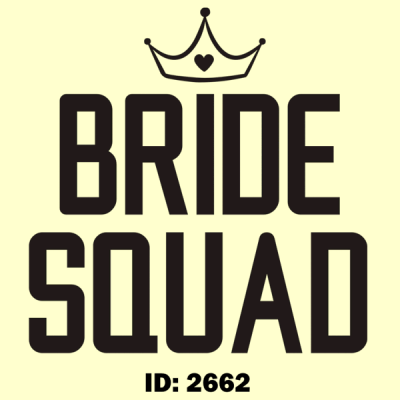 Bride Squad Iron-on Decal