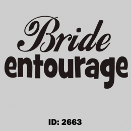 Bride Entourage Iron-on Decal
