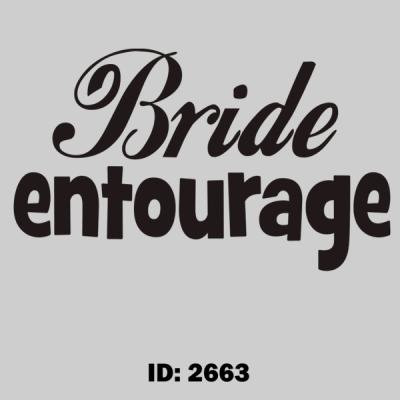 Bride Entourage Iron-on Decal
