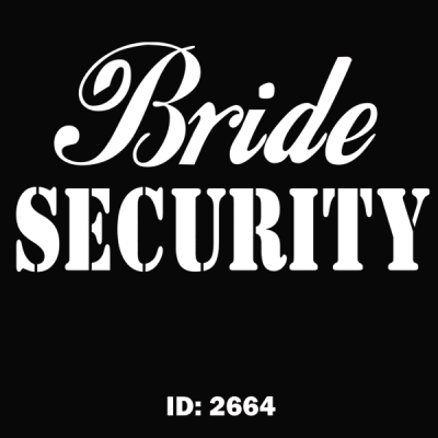 Bride Security Iron-on Decal