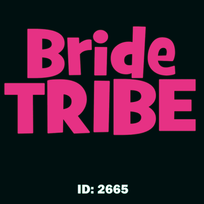 Bride Tribe Iron-on Decal