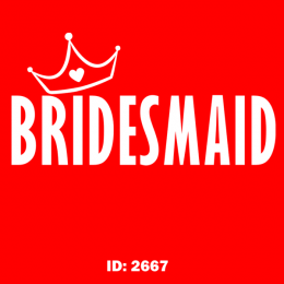 Bridesmaid Iron-on Decal