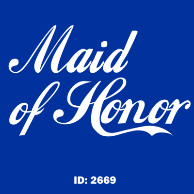 Maid of Honor Iron-on Decal
