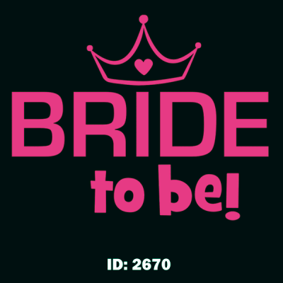 Bride to Be Iron-on Decal