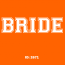 Bride Iron-on Transfer Decals