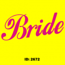 Bride Fancy Iron-on Decal