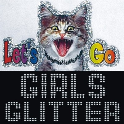 Girls Glitter Iron-on Decals