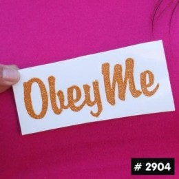 Obey Me Glitter Iron-on Decal